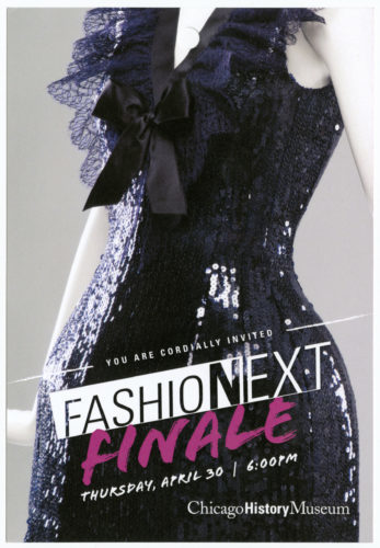 Fashion NEXT flyer for Chicago History Museum